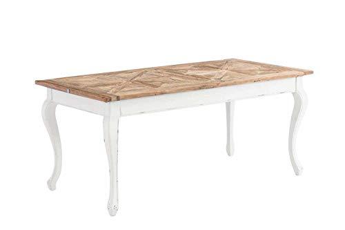 CLP Esszimmertisch Aurelius aus Holz I Handgefertigter Holztisch im Landhausstil I In verschiedenen Größen erhältlich 260 x 100 x 78 cm
