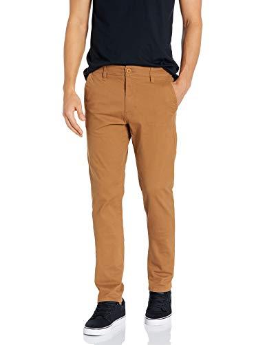 Southpole Men's Flex Stretch Basic Long Chino Pants, Caramel(New), 36X32