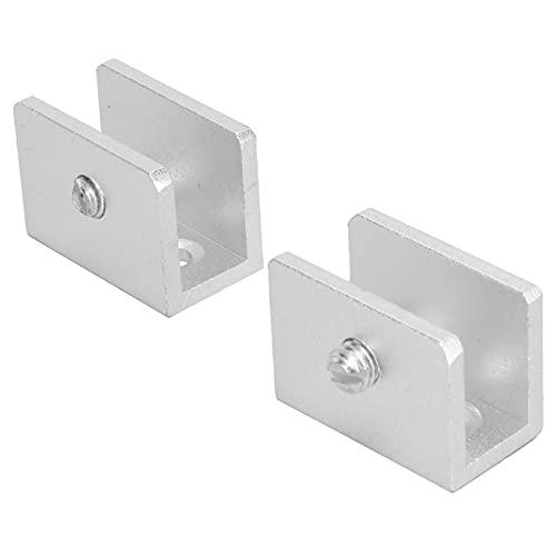 Braçadeira de vidro, acessórios de hardware 2 PCS Liga de alumínio polido à mão para vidro de 8-10 mm para chuveiro de banheiro