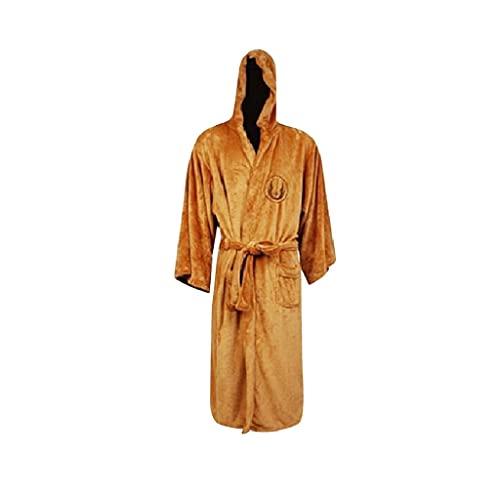 Star Wars Darth Vader Flannel Terry Jedi Bathrobe Adult Robes Halloween Cosplay Disfraz de Hombres Ropa de dormir (Color : Multi-colored, Size : S)