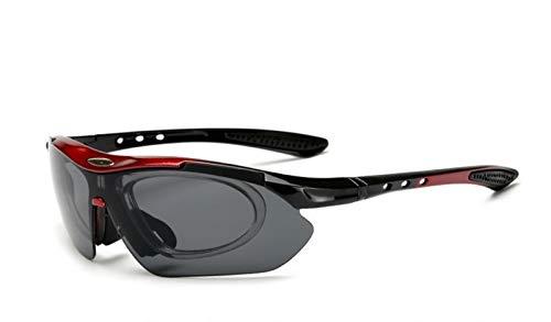 XCHJY Ciclismo vidrios de la Bicicleta de Ciclismo Gafas de Sol Hombres/Mujeres Deportes al Aire Libre Montar Bicicleta Bike los vidrios de Eyewear (Color : Red)
