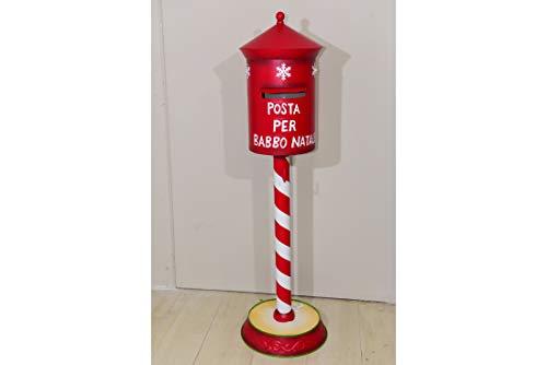 MERCURY Cassetta Postale di Babbo Natale con LUCI LED 122X35X35 CON5 LUCI LED