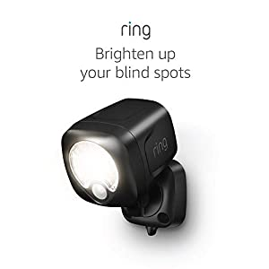 Ring Smart Lighting – Spotlight, Battery-Powered, Outdoor Motion-Sensor Security Light, Black (Bridge required)