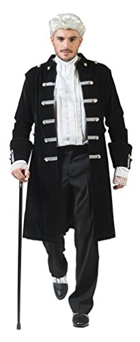 Karneval-Klamotten Barock Kostüm Herren Renaissance Kostüm Herren Rokoko Herren-Kostüm schwarz...