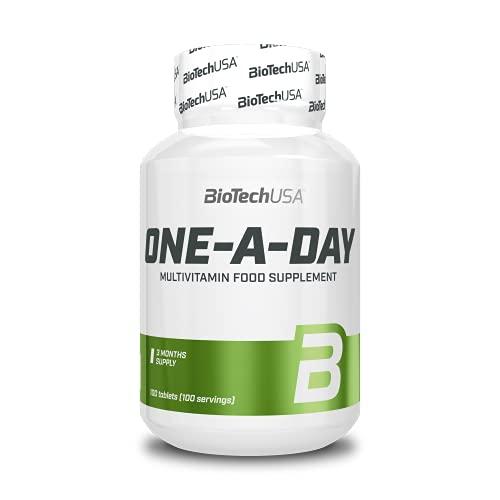 BioTechUSA One-A-Day Multivitaminico, Integratore alimentare in compresse contenente vitamine e minerali, 100 compresse