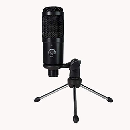 Huolirong Micrófono Karaoke Bluetooth Micrófono de Condensador USB para micrófono de computadora para el micrófono de grabación de Juegos con Soporte de Stand Shock