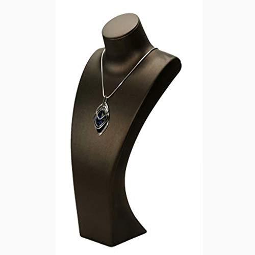 Collar Cadena Soporte para retrato Nuevo modelo de retrato artístico vertical Collar de cuello Estante de exhibición Ventana Accesorios de exhibición de joyería, Marrón / mediano, 14cm × 7cm × 27cm
