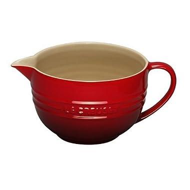 Le Creuset Stoneware 2-Quart Batter Bowl, Cerise (Cherry Red)