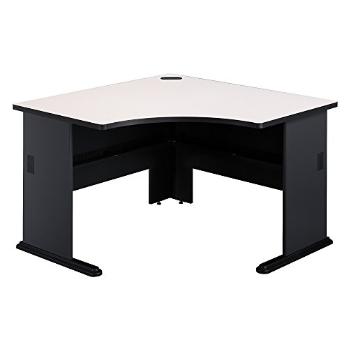 Bush Business Furniture Series A 48W Corner Desk - Slate/White Spectrum 47W X 47D X 30H ERGONOMICHOME BUSH BUSINESS FURNITURE