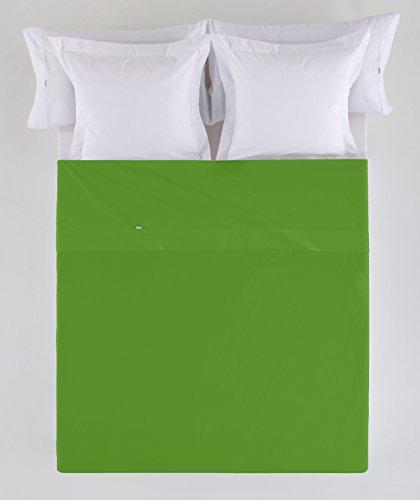 ESTELA - Sábana encimera Combi Color Verde - Cama