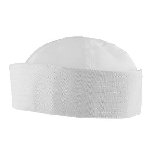 Non brand Baoblaze Cappello da Marinaio Berretto Capitano Cappellino Sailor Costume Accessori per Adulti Bambini Bianco - Adulto