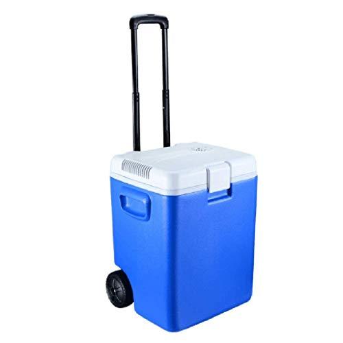 LXYZ Enfriador y Calentador eléctrico de Viaje, refrigerador portátil a Mini refrigerador para automóvil con Cables de alimentación de 12 V CC, manija extraíble y Ruedas