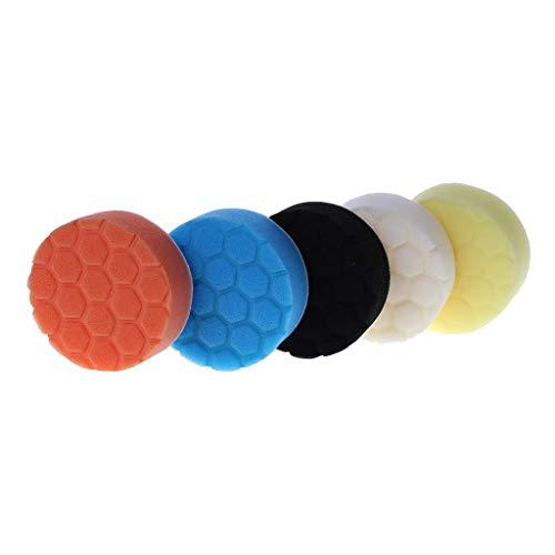 XIANZI Kit de almohadillas de pulido de 80 mm para pulidor de coche, paquete de 5 unidades, calidad profesional, paquete de 5 unidades