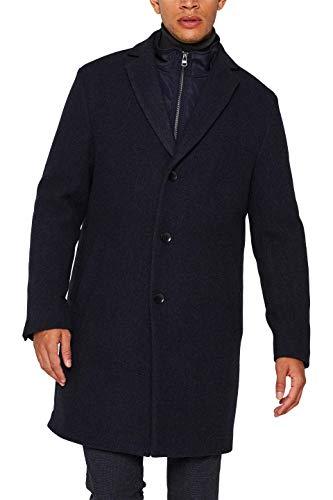 ESPRIT Herren 109EE2G008 Mantel, Blau (Dark Blue 405), Medium (Herstellergröße: 48)