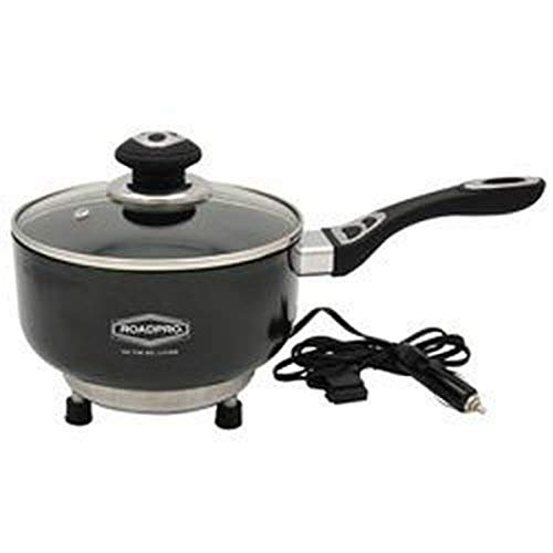 Roadpro RPSP225NS 12-Volt Portable Saucepan with Non-Stick Surface,Black