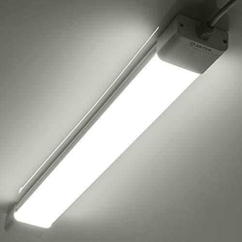 Anten 36W LED Feuchtraumleuchte 120cm für Keller, Garage, Innen- und Außenbeleuchtung | IP65 Wasserfest Kellerleuchte, Feuchtraumlampe in (Kaltweiß 6000K / Neutralweiß 4000K),2 Stück