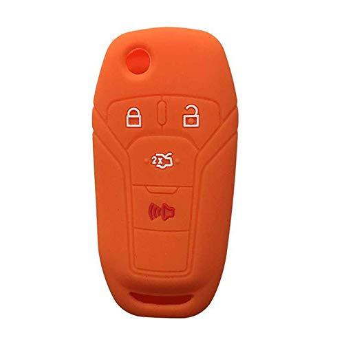 LZZCTB Cubierta de la llave del coche, llavero inteligente del silicón de la rana, cáscara protectora de la entrada sin llave, caja del botón, ajuste para Ford Fusion 2013 2014 2015