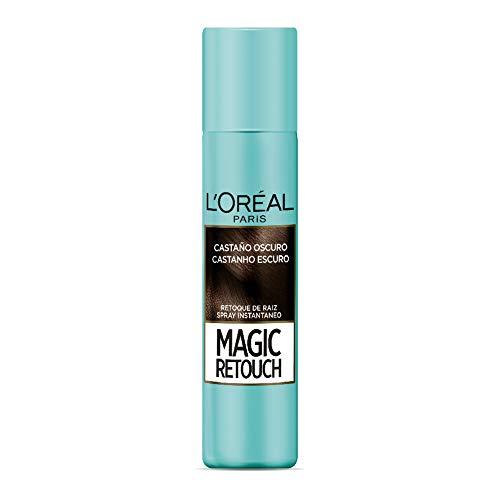 Spray Retoque de Raiz Instantâneo Magic Retouch, L'Oréal Paris, Castanho Escuro, Instantâneo Magic