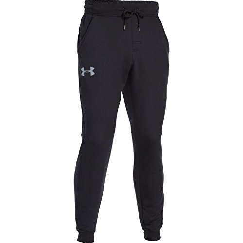 Under Armour, Rival Cotton Jogger, Pantaloni Sportivi, Uomo, Nero (Black/Steel 001), S