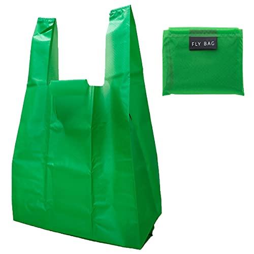 FLY BAG コーデュラ エコバッグ 折りたたみ コンパクト おしゃれ 日本製 コンビニ レジ袋 メンズ (L, グリーン)