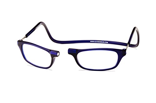 Clic Magnetic Reading Glasses in Frosted Matte Blue, Frosted Blue, Medium