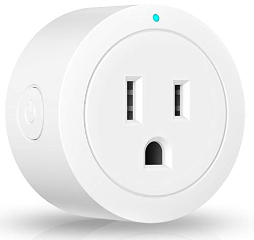 Wi-Fi Smart Plug Outlet Timer Mini Socket Compatible with Alexa Google Home Ifttt No Hub Required Control Your Devices from Anywhere 1 Pack Esicoo