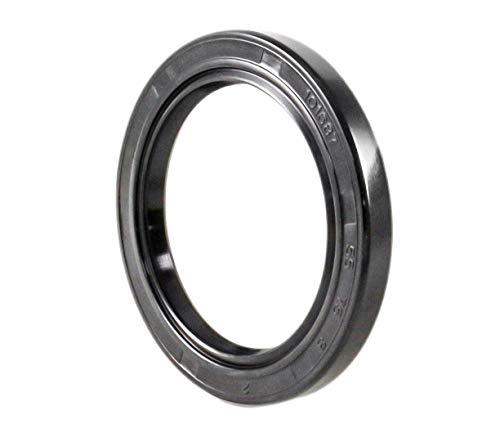 EAI Oil Seal 55mm X 75mm X 8mm (2 PCS) TC Double Lip w/Spring. Metal Case w/Nitrile Rubber Coating