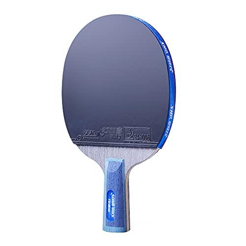 SGAIYUNRT Palas Ping Pong con Madera 7 Capas, Raquetas de Tenis de Mesa Competitiva, Cuchilla de Ping-Pong con Gran Giro y Control