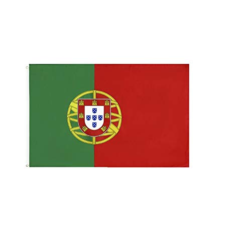 stormflag Portugal Flagges (90cmx150cm) Polyester Pongee 90g mit Ösen mit Doppelnadel genäht.
