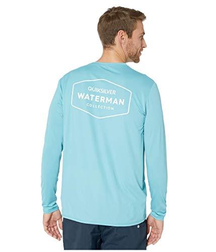 Quiksilver Herren GUT Check LS Long Sleeve Rashguard SURF Shirt Rash Guard Hemd, blau, Small