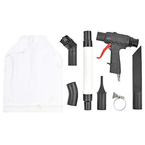 Pistola de limpieza por soplado neumática Soplador de vacío neumático Limpiador de succión de soplado de aire multifuncional con conector de entrada de 1/4 pulg.