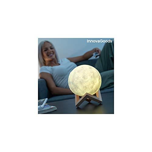 InnovaGoods Lámpara LED Recargable Luna Moondy,