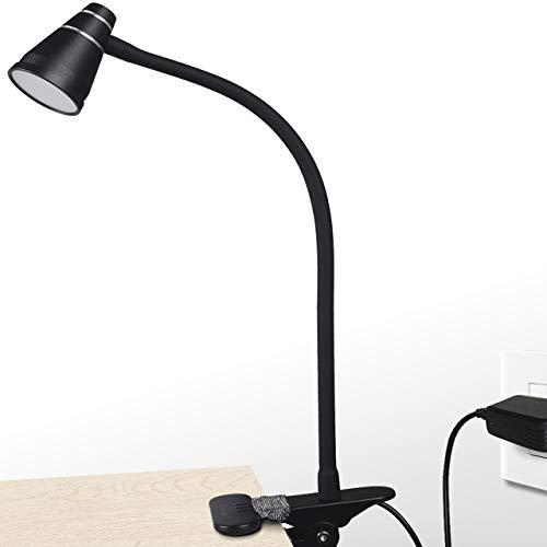 読書灯 クリップライト CeSunlight ライトクリップ 3段調色 暖色/昼光色/白色 11段調光 usbスタンドライト クリップライト led, 2 m USB電線, PSE認証ACアダプター付属 (黒)