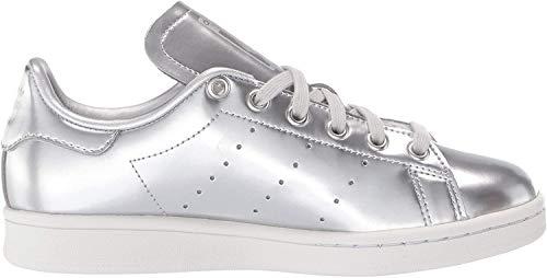 adidas Originals Damen Stan Smith Turnschuh, Silber-Metallic/Silber-Metallic/Kristall Weiß, 37.5 EU