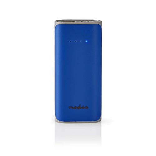 NEDIS Powerbank | 5000 mAh | 1x USB A-Ausgang 1.0 A | Micro-USB-Eingang | Blau