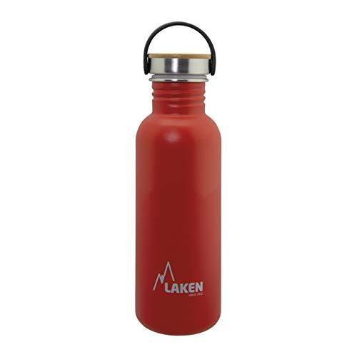 Laken Unisex - Botella de acero inoxidable muy robusta para adultos, 0,75 L, color rojo, 0.75