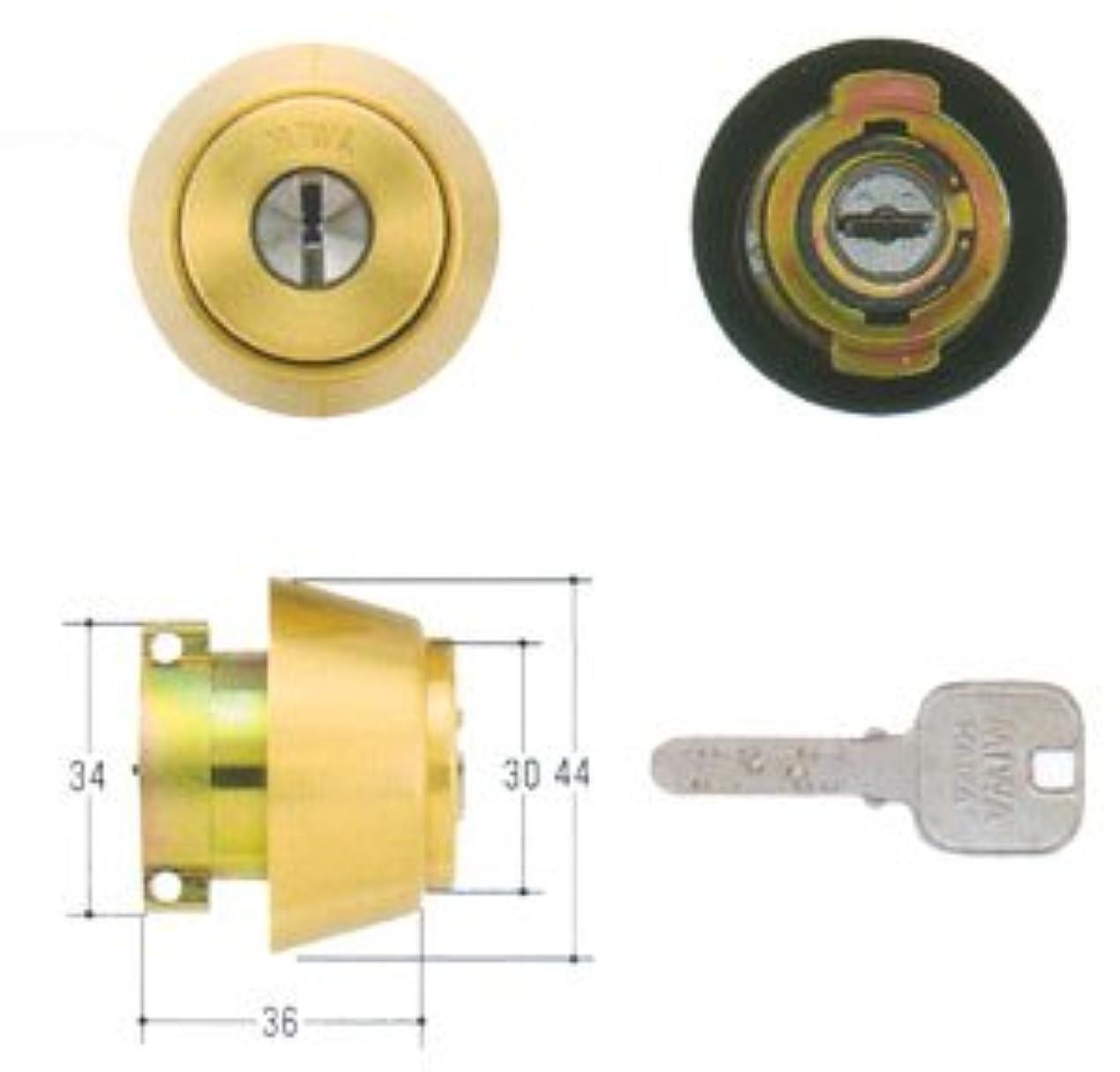 タイト民族主義ポンドMIWA(美和ロック) JNシリンダー LAタイプ 鍵 交換 取替え MCY-183 MIWA KABA LA/LAMA/DAゴールド色(BS)33~41mm