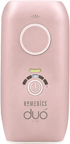 Homedics Duo Lite Epilierer mit Lichtimpuls mit Doppel-Technologie, permanente Entfernung von unerwünschten Haaren, Lampe mit 100.000 Impulse