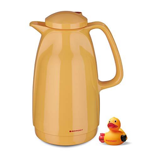 ROTPUNKT Isolierkanne 227 Bella 1,5 l   BPA-frei - gesundes Trinken   Made in Germany   Warm + Kalthaltung   rubberduck