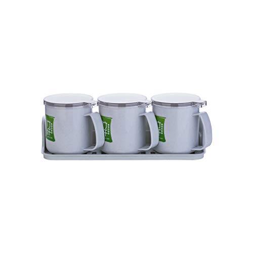 HEG kruidenpotjes set voor het huis gadget van kunststof voor de keuken van zout, seizoensgebonden in luchtvochtigheid