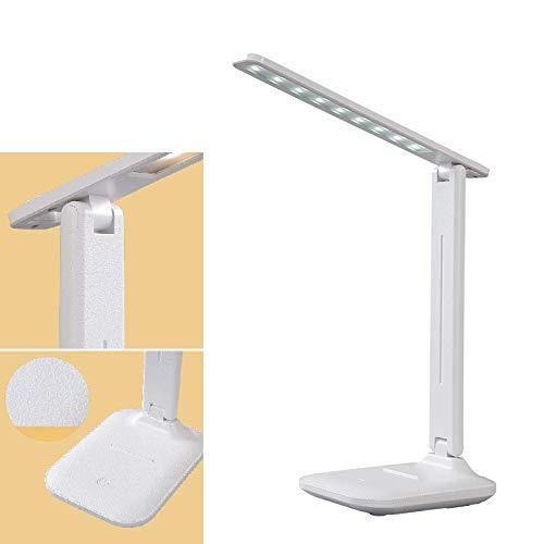 Zagon - Lámpara escritorio-flexo led-brazo ajustable-regulable en 3 modos de intensidad-inalámbrica con batería recargable-cable USB-lampara de lectura-para estudiar-protección ocular-bajo consumo