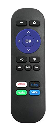 New IR Replaced Remote fit for Roku 1 2 3 4 HD LT XS XD Roku Express 3900R Premiere 4620XB 4210XB 3900R 2500R 2700R 2450XB w Channel Shortcut Buttons, NOT Support for Any Roku Stick or Roku TV