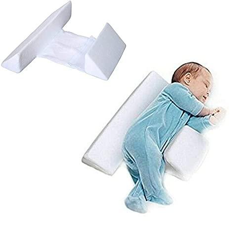 CZYSKY Almohada Lateral para Bebé, Almohada De Cuña Antivuelco, con Diseño De Soporte Triangular Inclinado De 45 °, Ajustable, para Posicionador De Sueño Lateral para Bebés, Blanco