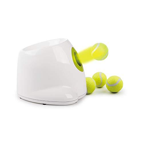 Pet Prime Automatischer Ballwerfer für Hunde, interaktives Spielzeug, Haustierball, Schaufelspiel mit 3 Tennisbällen im Mini-Stil