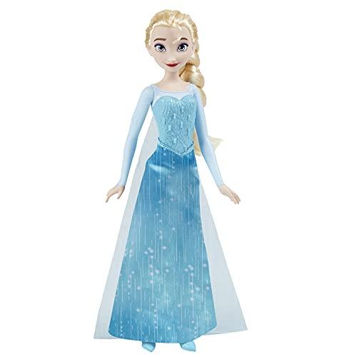 Hasbro Disney Frozen Shimmer - Elsa (Fashion Doll con Capelli Lunghi e Abito Ispirato al Film Frozen, per Bambini dai 3 Anni in su)