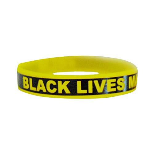 Black Lives Matter Pulseras Bandas Goma Pulsera De Silicona para Hombres Mujeres Pulsera De Silicona De Motivacion Pulseras con Mensaje Positivo, Fitness, Pulsera Gym, para Hombre, para Mujer