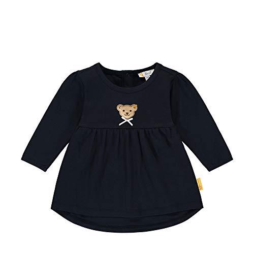 Steiff Baby-Mädchen mit süßer Teddybärapplikation Tunika, Navy, 062