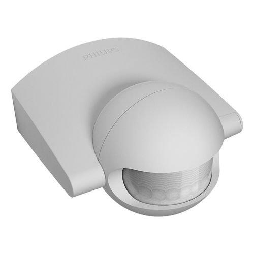 2 Stück Philips Bewegungsmelder Sensor grau 220° Aussen Innen IP44 Aufputz Unterputz Erfassungsbereich 12m