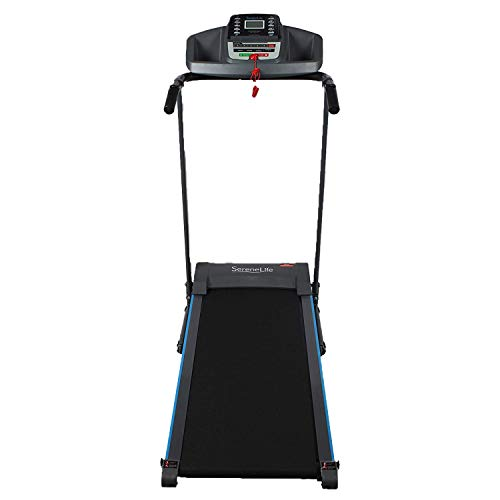 SereneLife Smart Electric Folding Treadmill – Easy Assembly Fitness Motorized Running Jogging Exercise Machine with Manual Incline Adjustment, 12 Preset Programs
