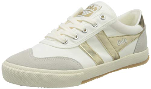 Gola Damen Badminton Sneaker, Off White/Gold, 41 EU